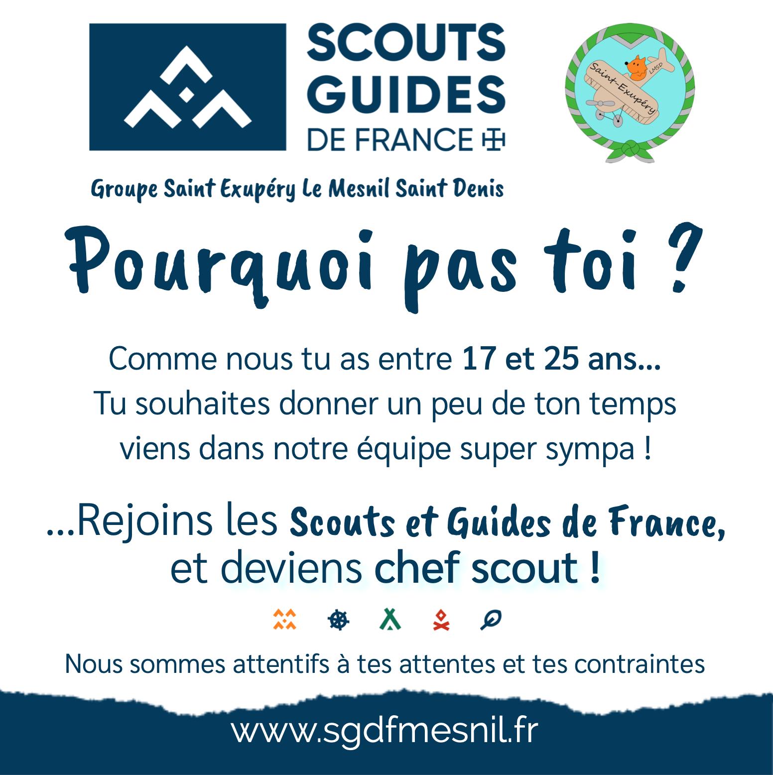 Recherche de chefs Scouts et Guides (11 – 14 ans) !